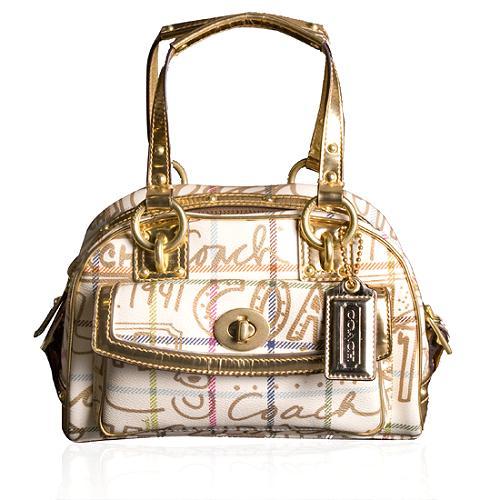 Coach Tattersall Graffiti Small Domed Satchel Handbag