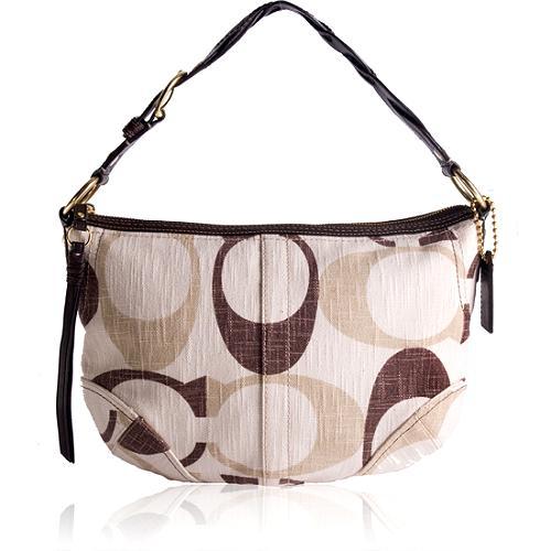 Coach Tonal Signature Hobo Handbag