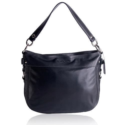Coach Zoe Leather Convertible Hobo Handbag with Wallet