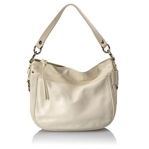 Coach Zoe Leather Small Hobo Handbag