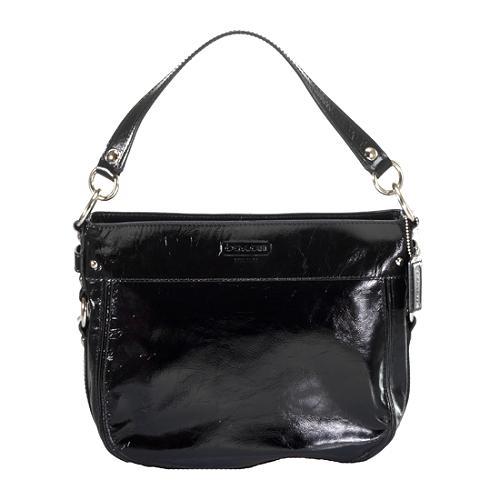 Coach Zoe Patent Leather Convertible Hobo Handbag