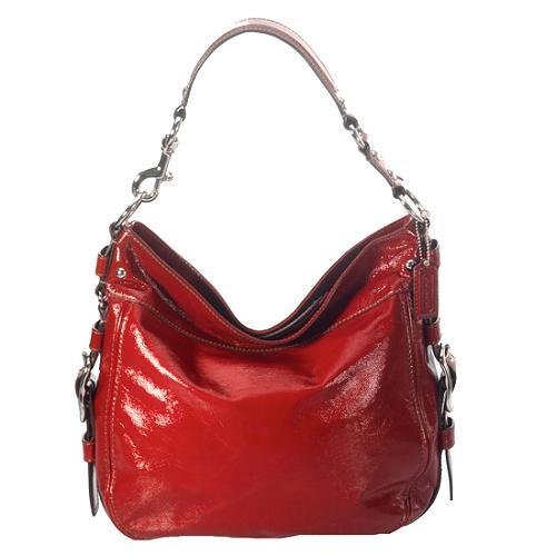 Coach Zoe Patent Leather Large Hobo Handbag