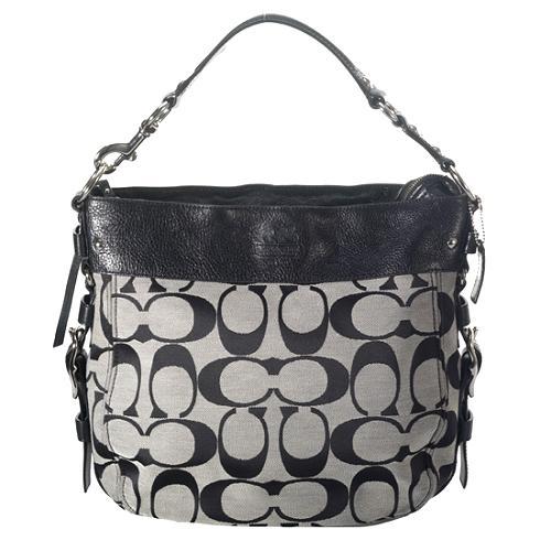 Coach Zoe Signature Large Hobo Handbag