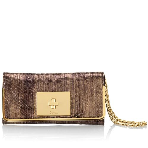 Cole Haan Capetown Snake Print Isabelle Clutch