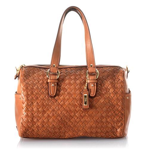 Cole Haan Heritage Weave Jade Satchel Handbag