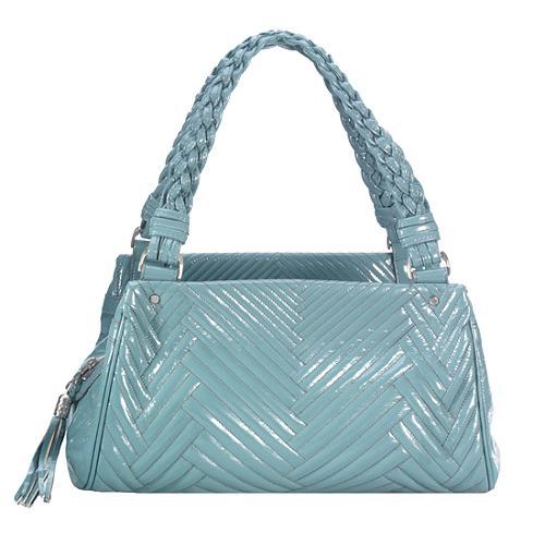 Cole Haan Laury Patent Triple Compartment Satchel Handbag