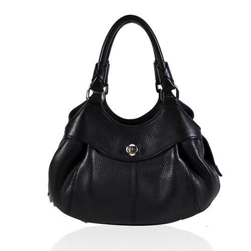 Cole Haan Pebbled Leather Satchel Handbag
