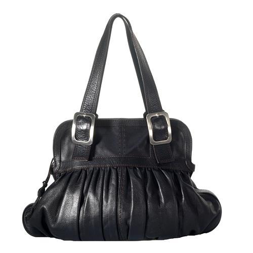 Cole Haan Village Ruched Satchel Handbag