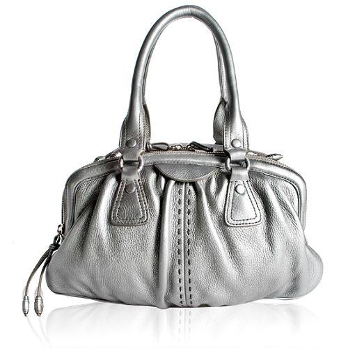 Cole Haan Village Triple Zip Satchel Handbag