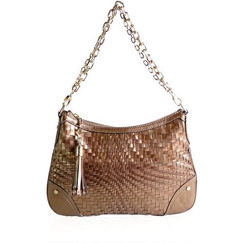 Cole Haan Woven Leather Shoulder Handbag