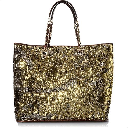 D&G Bedazzled Sequins and Leather Tote