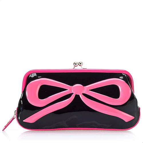 D&G Bow Patent Leather Clutch