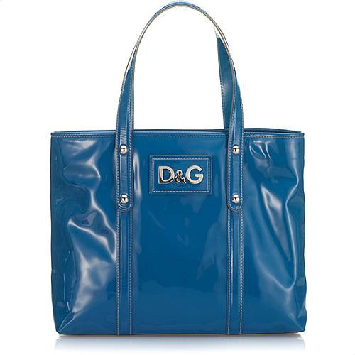 D&G Estelle Calfskin Patent Leather Medium Tote