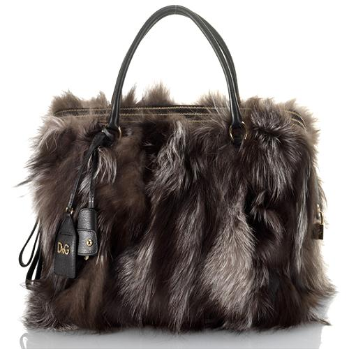 D&G Large Lily Twist3 Zip Satchel Handbag