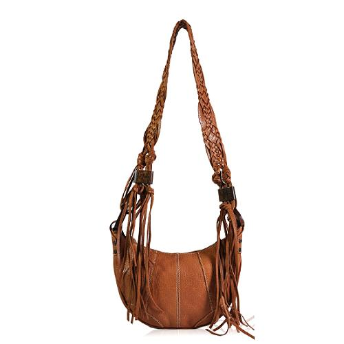 D&G Leather Tassel Shoulder Handbag