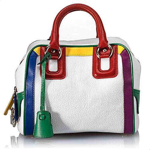 D&G Lily 3-Zip Leather Satchel Handbag