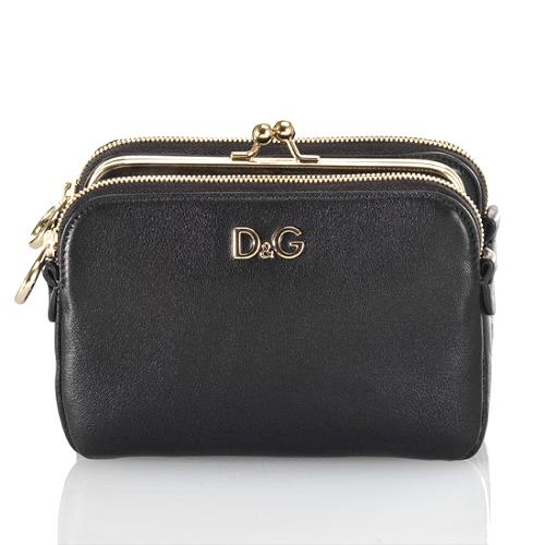 D&G Lily Twist Kiss-Lock Small Crossover Handbag