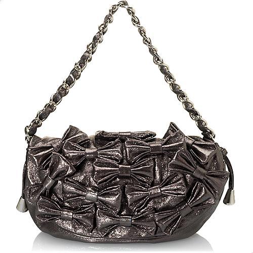 D&G Maika Shimmer Bow Evening Handbag