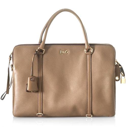 D&G Medium Lily Twist 3-Zip Satchel Handbag