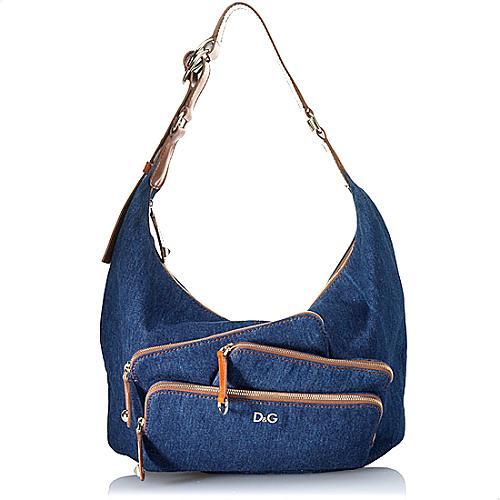 D&G Mindy Denim Hobo Handbag