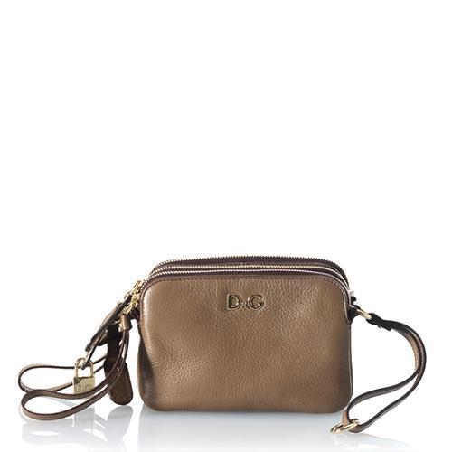 D&G Mini Lily3-Zip Shoulder Handbag