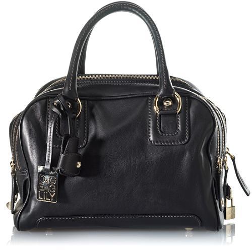 D&G Nappa Leather Classic 5-Zip Lily Satchel Handbag