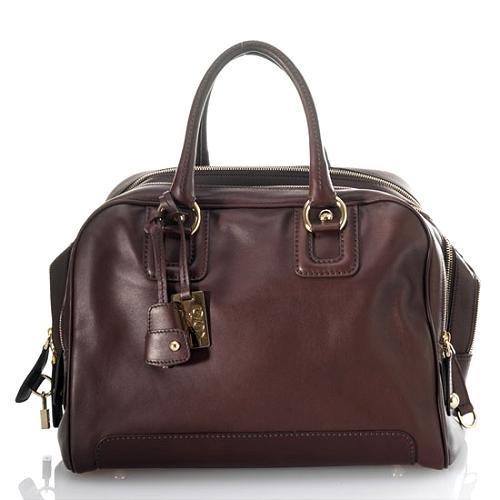 D&G Polished Calfskin Large Classic 7-Zip Lily Handbag