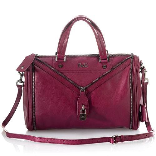 D&G Polished Calfskin MediumVilma Satchel Handbag