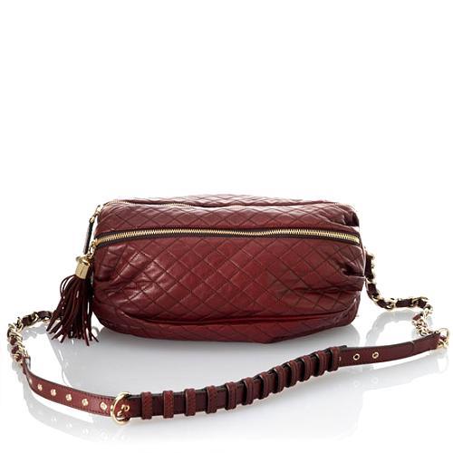 D&G Polished Calfskin Quilted Lily Glam Handbag
