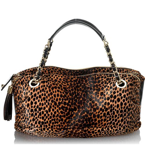 D&G Pony Ocelot Large Lily Glam Handbag