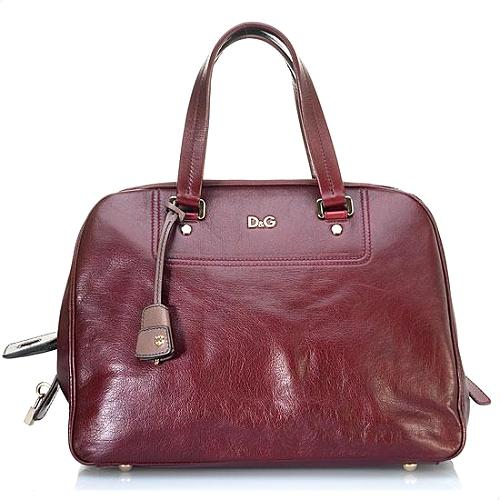 D&G Rigore Vilma Polished Sheepskin Satchel Handbag