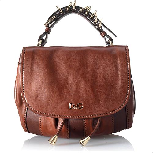 D&G Small Leather Messenger Handbag