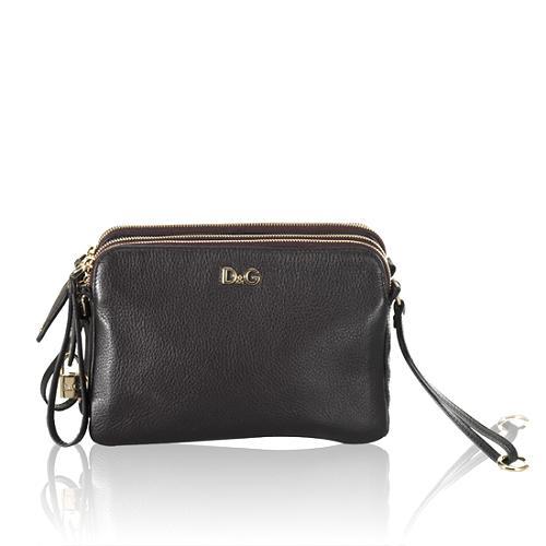 D&G Small Lily Twist 3-Zip Handbag