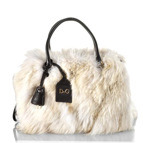 D&G Small Lily Twist 3-Zip Satchel Handbag