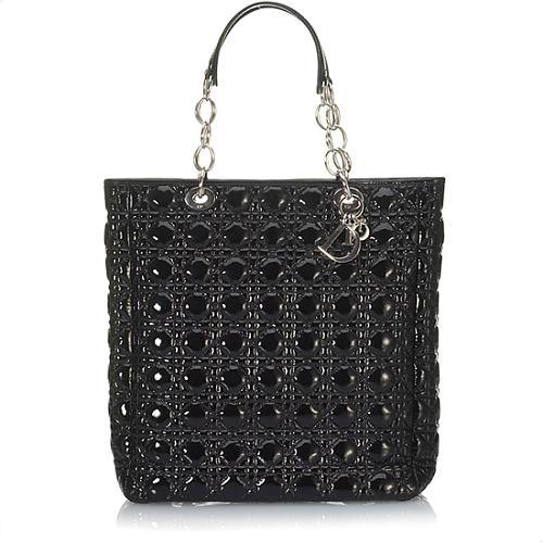 Dior Black Patent Soft Bag