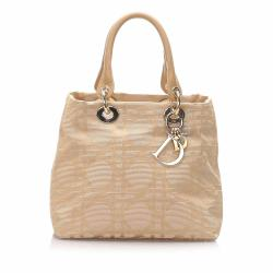 Dior Cannage Canvas Handbag