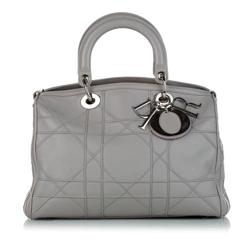 Dior Cannage Granville Leather Satchel