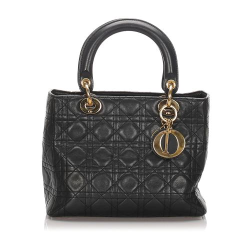 Dior Cannage Leather Lady Dior Tote
