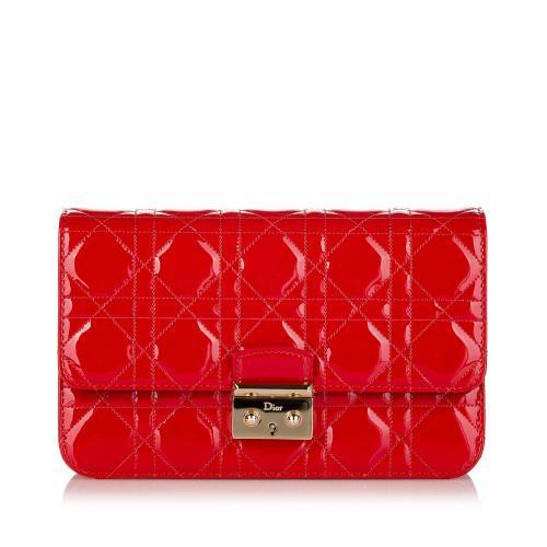 Dior Cannage Miss Dior Promenade Chain Leather Crossbody Bag