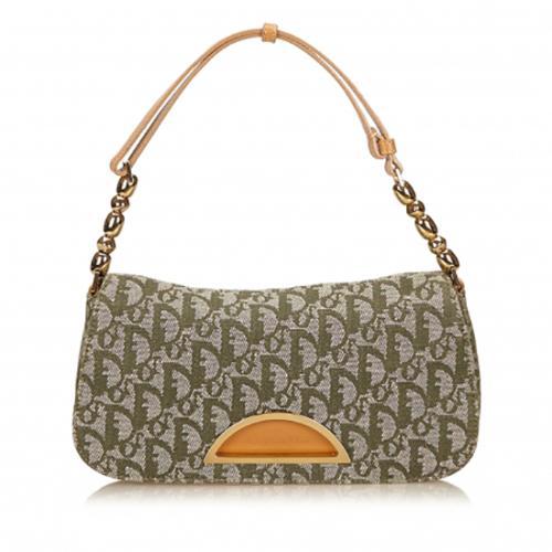 Dior Canvas Diorissimo Jacquard Malice Shoulder Bag