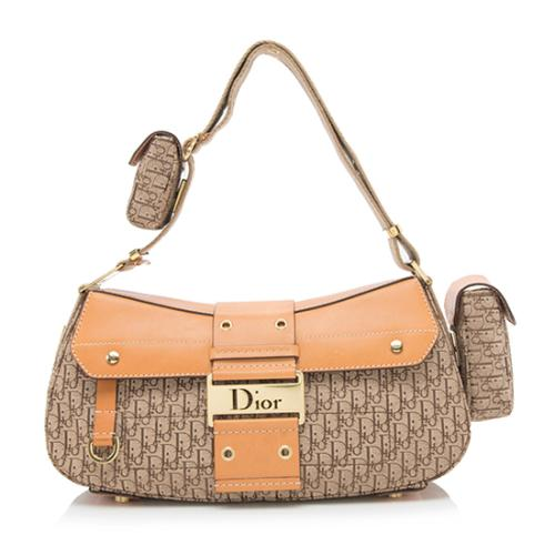 Dior Canvas Diorissimo Street Chic Columbus Shoulder Bag