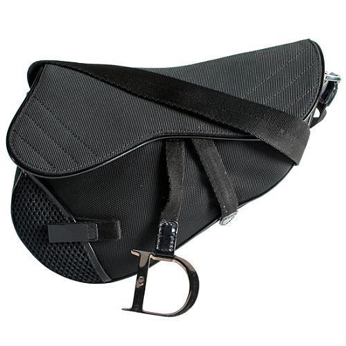 Dior Canvas Mesh Sport Saddle Bag Handbag