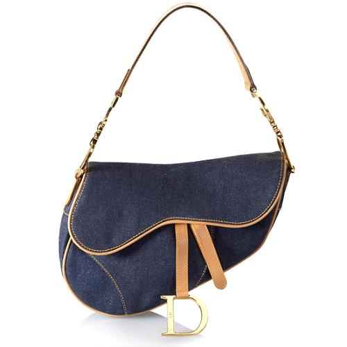 Dior Denim Saddle Shoulder Handbag