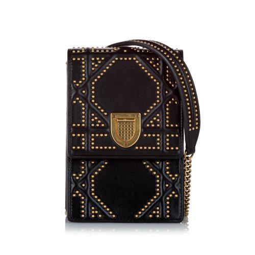Dior Diorama Studded Leather Crossbody Bag