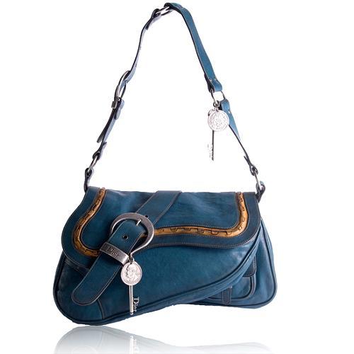 Dior Gaucho Large Double Saddle Shoulder Handbag