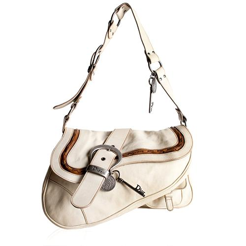 Dior Gaucho Large Double Saddle Shoulder Handbag