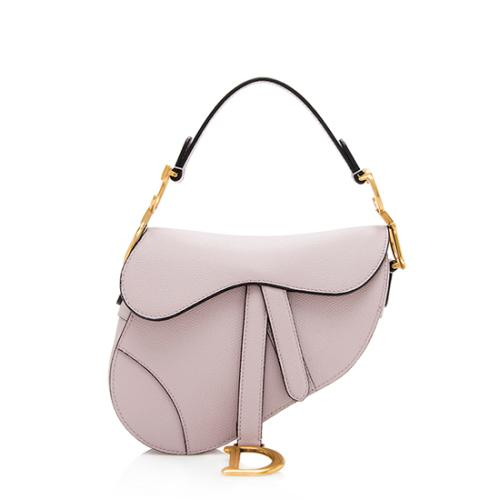Dior Grained Calfskin Mini Saddle Bag