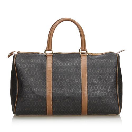 Dior Honeycomb Coated Canvas Duffle Bag