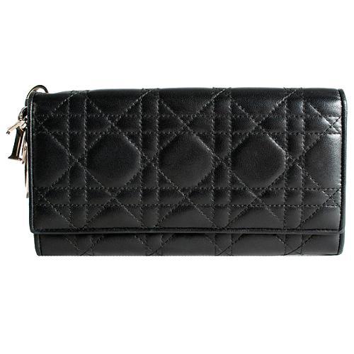 Dior Lady Dior Cannage Continental Wallet