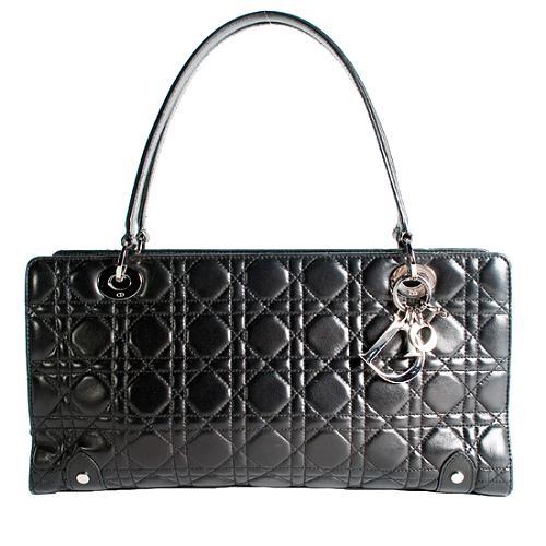 Dior Lady Dior Cannage East/West Satchel Handbag